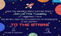 """دعوة لحضور معرض بعنوان """"TO THE STARS"""" بكلية الصيدلة"""