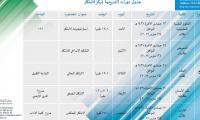جدول الدورات التدريبية للابتكار طلاب وطالبات الاسبوع الرابع
